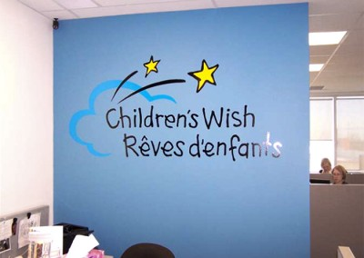 Childrens Wish vinyl sign
