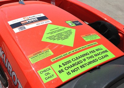 Compact Power Rental decals