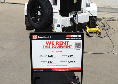 Compact Power Rental signage