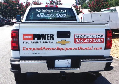 Compact Power truck decals rear