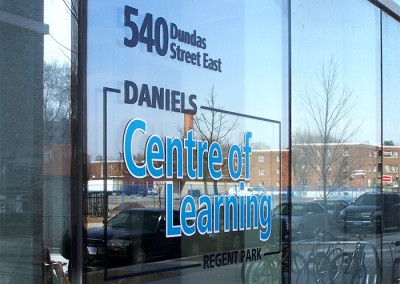Daniels Centre of Learning window decal