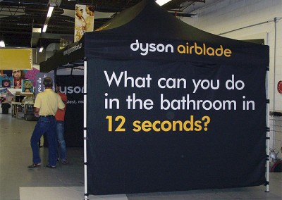 Dyson Airblade tent