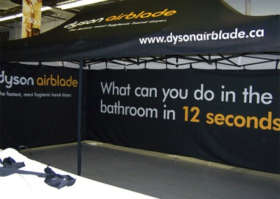 Dyson Airblade tent insides