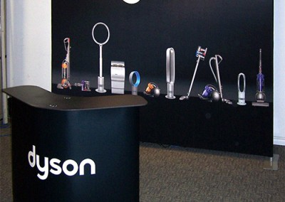 Dyson black fabric wall-king counter
