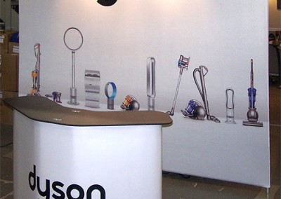 Dyson white fabric wall-king counter
