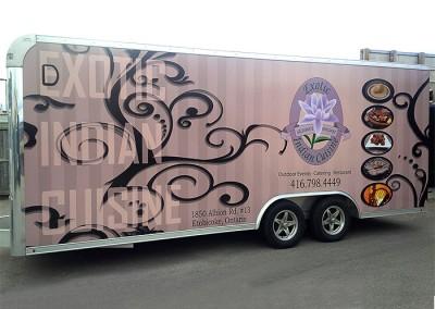 Exotic Indian Cuisine - trailer wrap