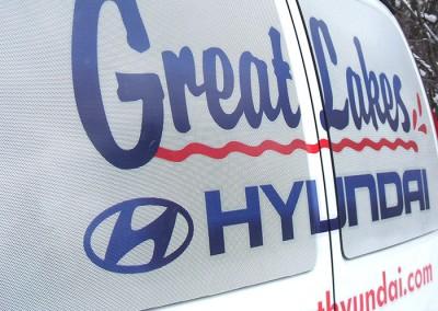 Great Lakes Hyundai - van window detail