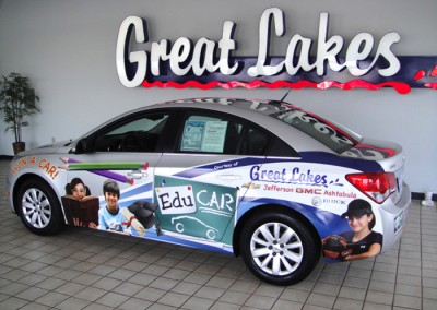 Great Lakes Chevy Cruze wrap