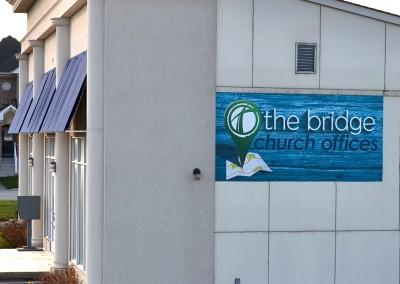 The Bridge office sign