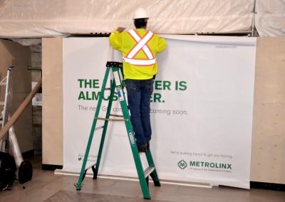 Metrolinx Banner Installation
